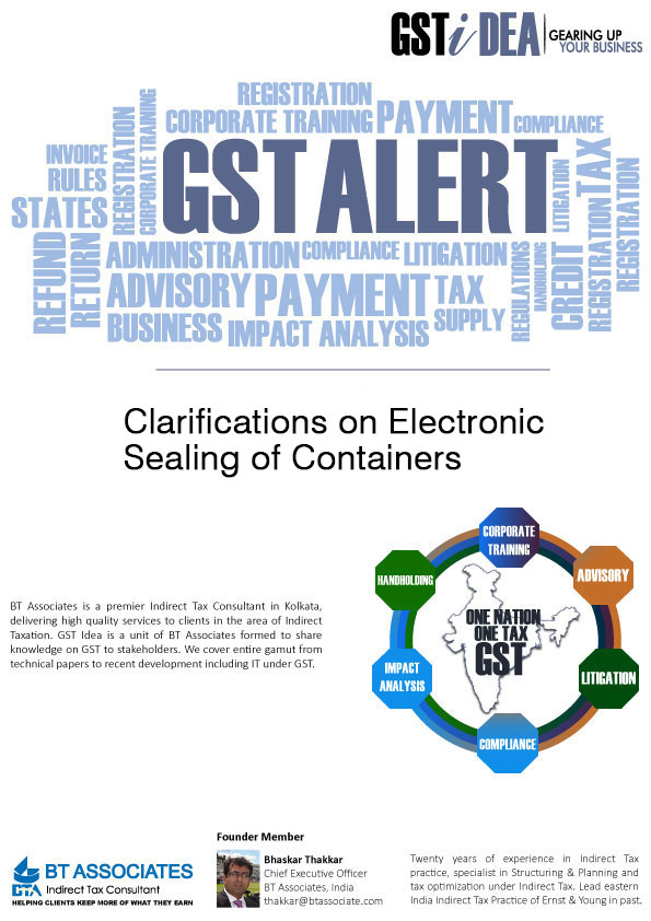 Clarifications on Electronic sealing of Containers<