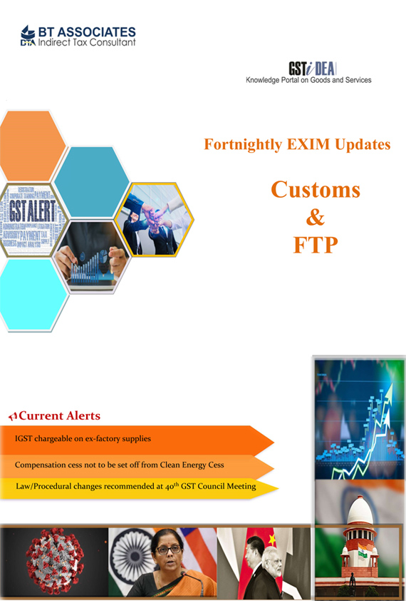 Fortnightly EXIM Updates covering Customs and FTP