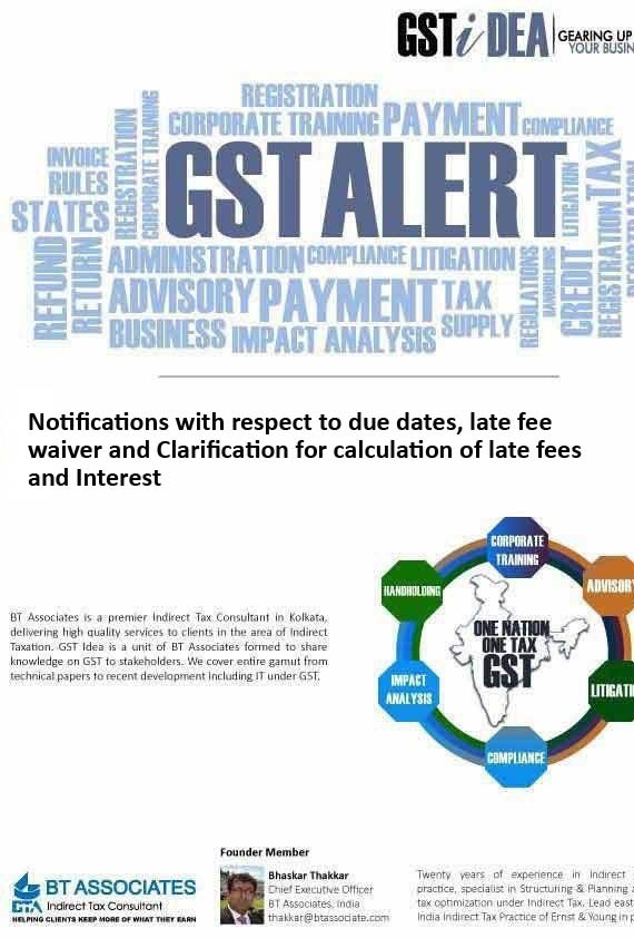 Notifications with respect to due dates, late fee waiver and Clarification for calculation of late fees and Interest
