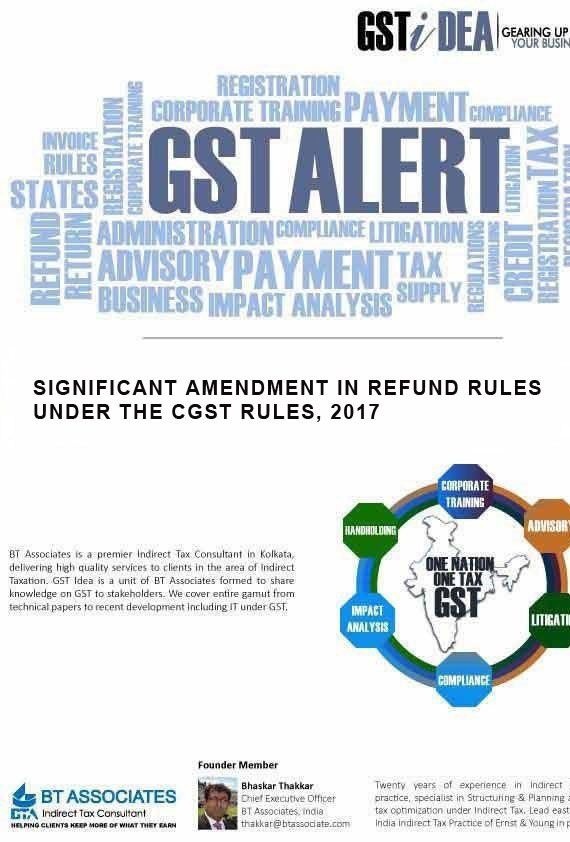 Under the GST regime refund of tax amount can be claimed by a tax payer under various situations viz. refund of tax paid on zero-rated supplies,