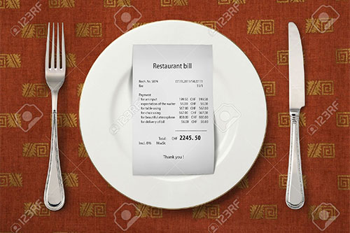 Tax, charges increase your restaurant bills by a third